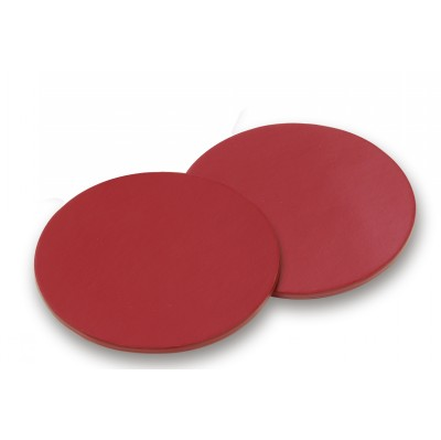 Deluxe Red Round Coasters (DAC95 RED_CC)