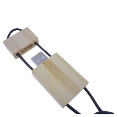 Bamboo Lanyard Flash Drive 1GB - Includes Decoration AR263-1GB_PROMOITS