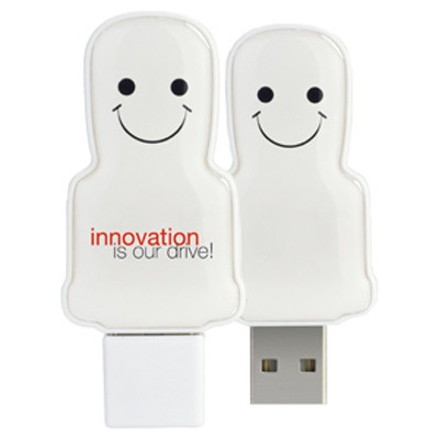 Mini USB People 1GB - White  (USM6109A-1GB_PROMOITS)