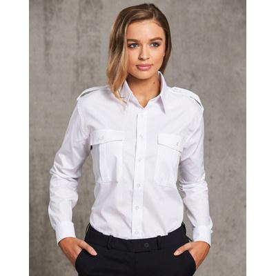 Mens Long Sleeve Epaulette Shirts (BS06L_WIN)