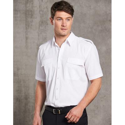 Mens Short Sleeve Epaulette Shirts (BS06S_WIN)