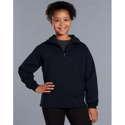 Kids American Style 1/2 Collar Fleecy Sweat Top (FL02K_WIN)