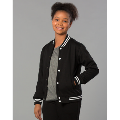 Kids Fleece Varsity Jacket (FL11K_win)