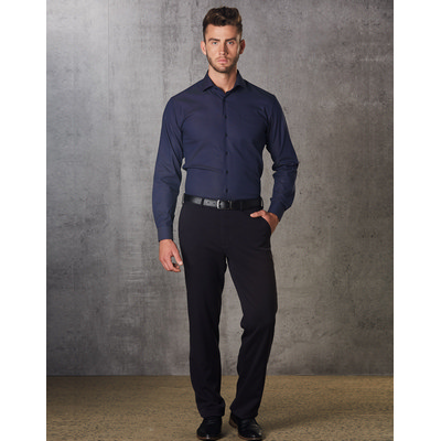 Mens PolyViscose Stretch Pants Flexi Waist M9330_WIN