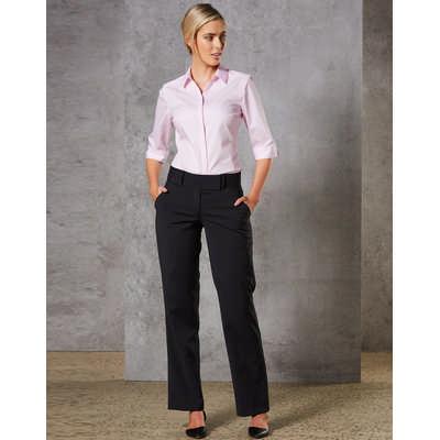 Women Wool Blend Stretch Low Rise Pants M9410_win