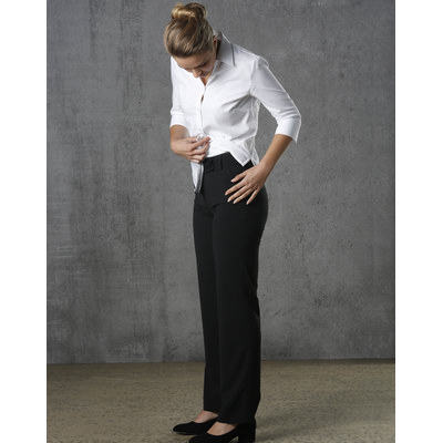 Women PolyViscose Stretch Stripe Low Rise Pants M9430_WIN