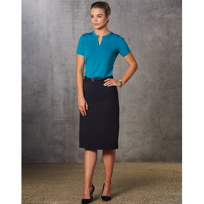 Ladies Poly/Viscose Stretch A-line Utility Lined Skirt (M9478_WIN)