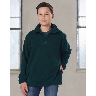 Kids Half Zip Polar Fleece Pullover (PF11_WIN)