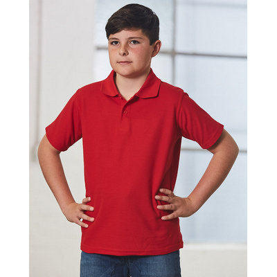 Kids Poly/Cotton Pique Knit Short Sleeve Polo (Unisex) (PS11K_WIN)