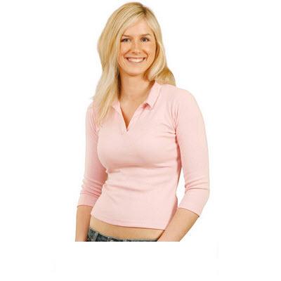 Ladies 3/4 Sleeve Length Rib Polo (PS27_WIN)
