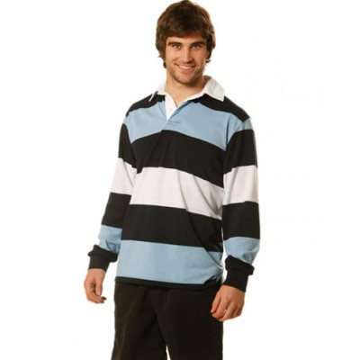 Mens Long Sleeve Rugby Top (RB07_WIN)