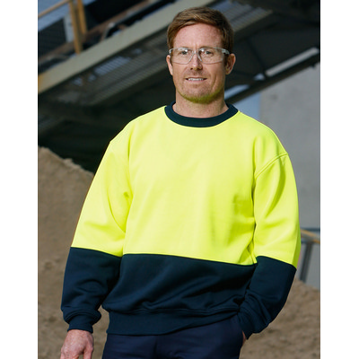 High Visibility Two Tone Crew Neck Safety Windcheater (SW09_WIN)