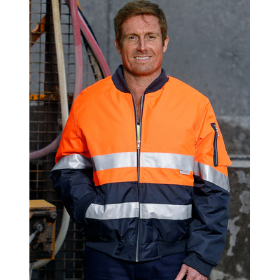 High Visibility Tow Tone Flying Jacket with 3M Reflective Tapes (SW16A_win)