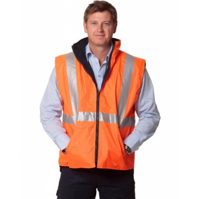 High Visibility Two Tone Vest With 3M Reflective Tapes (SW19_WIN)