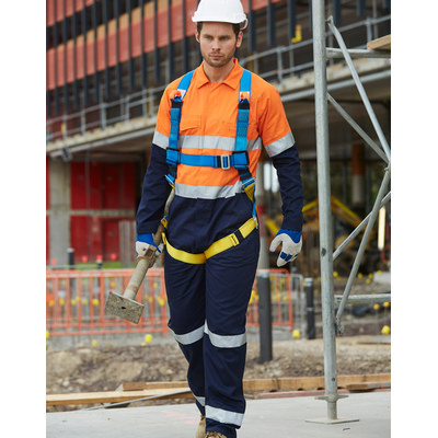 Mens Cotton Drill Coverall with 3M Scotchlite Reflective Tapes (SW207_WIN)