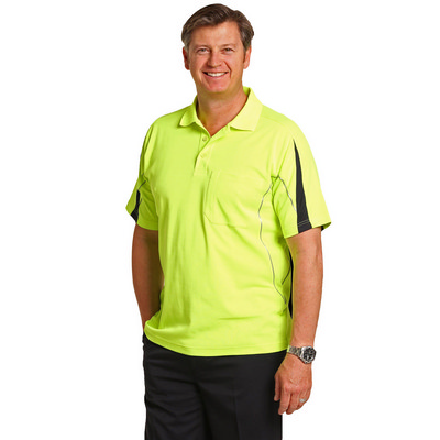 Mens TrueDry Hi-Vis Polo with Reflective Piping (SW25A_win)