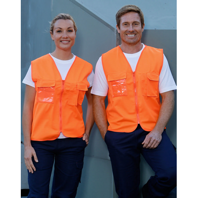 High Visibility Safety Vest with chest pockets (SW41_WIN)