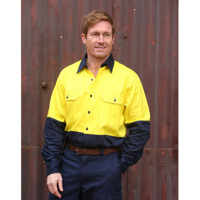 High Visibility Long Sleeve Work Shirt (SW54_WIN)