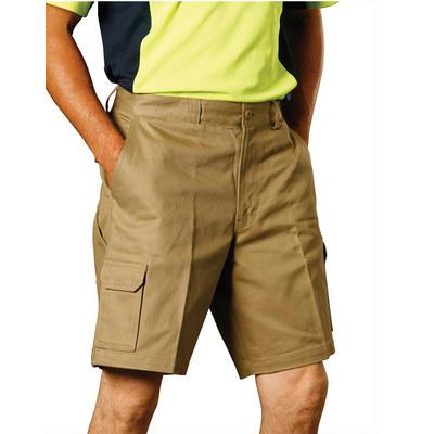MenS Heavy Cotton Drill Cargo Shorts WP06_win