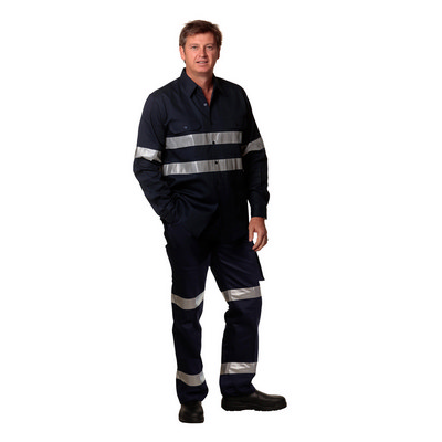 Mens Heavy Cotton Pre-shrunk Drill Pants - 3M Tapes Regular Size (WP07HV_WIN)