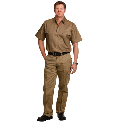 Mens Heavy Cotton Pre-shrunk Drill Pants Stout Size (WP08_WIN)