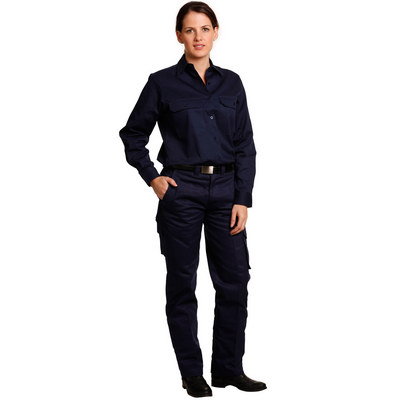 Ladies Heavy Cotton Pre-Shrunk Drill Pants (WP15_WIN)