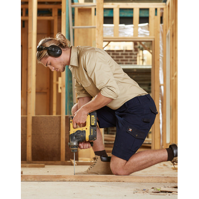 Mens Stretch Cargo Work Shorts With Design Panel Treatments WP23_WIN