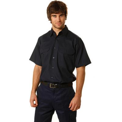 Cotton Drill Short Sleeve Work Shirt (WT03_WIN)
