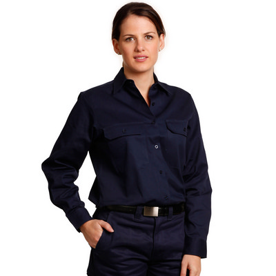 Ladies High Visibility Cotton Twill Safety Shirts (WT08_WIN)