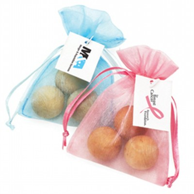 Scented Timber Balls in Organza Gift Bag (AF103_SKIN)