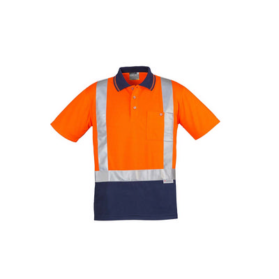 Syzmik Mens Hi Vis Spliced SS Polo - Shoulder Taped ZH233_SYZM