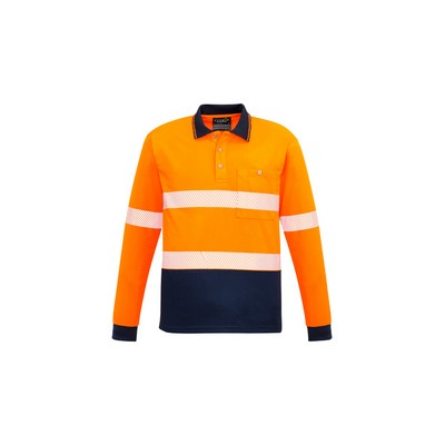 Syzmik Unisex Hi Vis Segmented LS Polo - Hoop Taped ZH530_SYZM