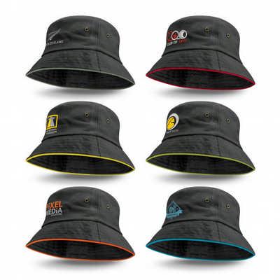 Bondi Bucket Hat - Coloured Sandwich Trim - Includes Decoration 115741_TRDZ
