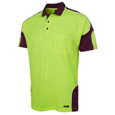 JBs Hi Vis S/S Arm Panel Polo (6AP4S_JBS)