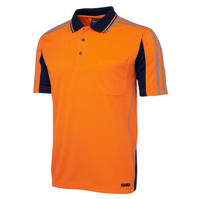 JBs Hi Vis S/S Arm Tape Polo (6AT4S_JBS)