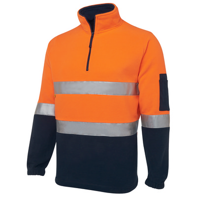 JBs Hi Vis (D+N) 1/2 Zip Polar Fleece (6DNPF_JBS)