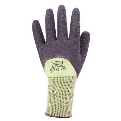 JBs Bamboo Latex Crinkle 34 Dipped Glove 12Pk GrnBl 8R025_JBS