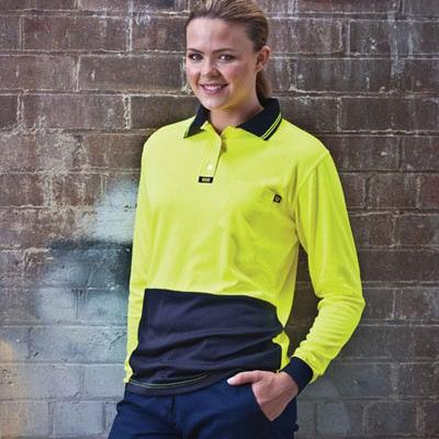 Basic Airwear  Polo -  Womens L/S VPAL-LADIES_VISI