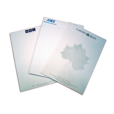 A4 Writing Pad 3c 50 L - (printed with 1 colour(s)) A4PAD3C50_OXY