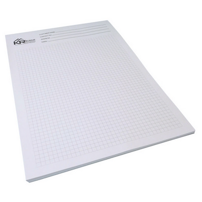 A4 Writing Pad 4c 10 L - (printed with 4 colour(s)) A4PAD4C10_OXY