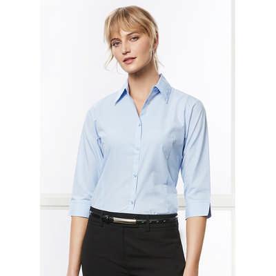 Ladies Micro Check 34 Sleeve Shirt LB8200_BIZ