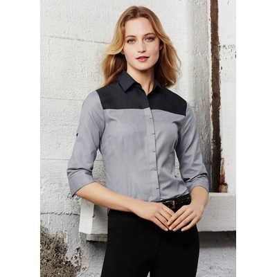 Ladies Havana 3/4 Sleeve Shirt S503LT_BIZ