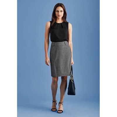 Womens Panelled Skirt With Rear Split 20316_BZC