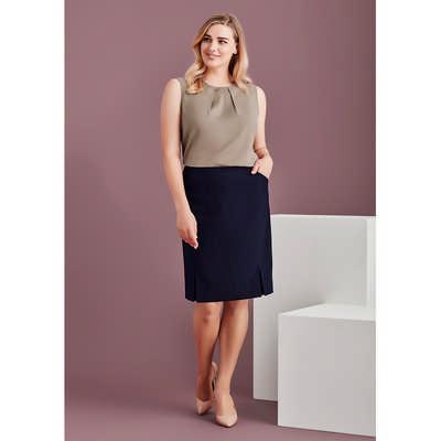 Womens Front Pleat Detail Straight Skirt 20720_BZC