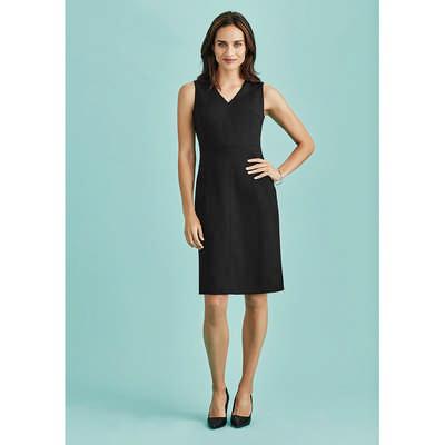 Womens Sleeveless V Neck Dress 30121_BZC