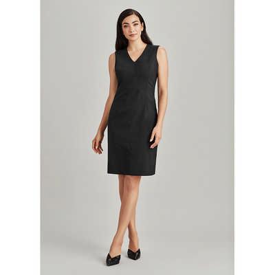 Womens Sleeveless V Neck Dress 34021_BZC