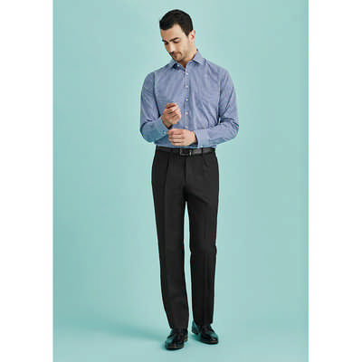 Mens One Pleat Pant Regular 70111R_BZC