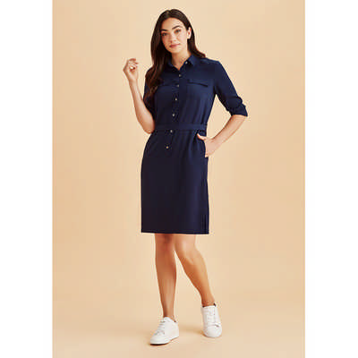 Womens Chloe Georgette Shirt Dress RD069L_BZC