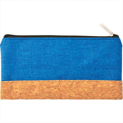 Heather Pouch With Cork Combo - (printed with 1 colour(s)) SM-3035_BUL