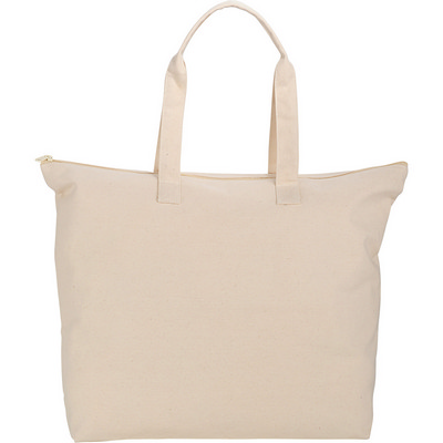 10 Oz. Basic Cotton Canvas Zippered Tote - (printed with 1 colour(s)) SM-7065_BUL